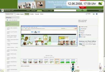 Screenshot der Avatar Theater Galerie mit weblin Publisher