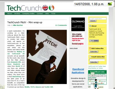 click the pic to read the techcrunch.uk article by Mike Butcher