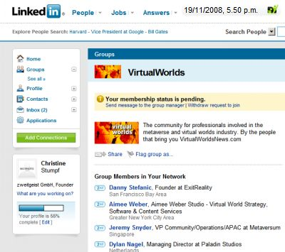 Wirtaual Worlds Group at LinkedIn