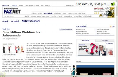 Screenshot mit weblin Publisher