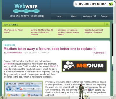 webware about me.dium (Screenshot)